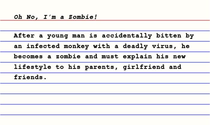 3x5_Oh No, I'm a Zombie